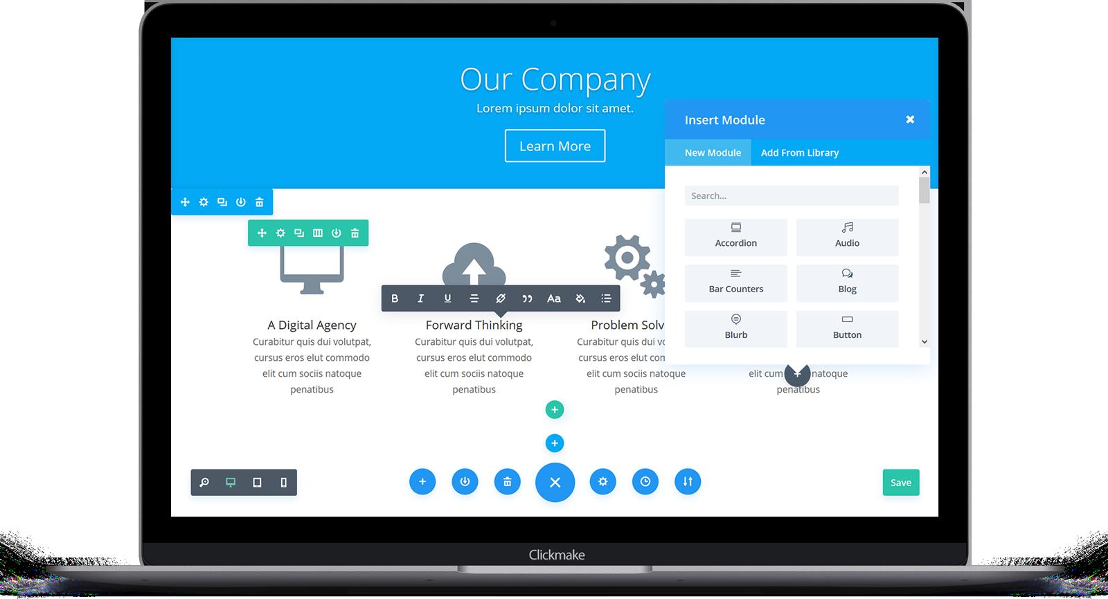 Clickmake Responsive Website Builder
